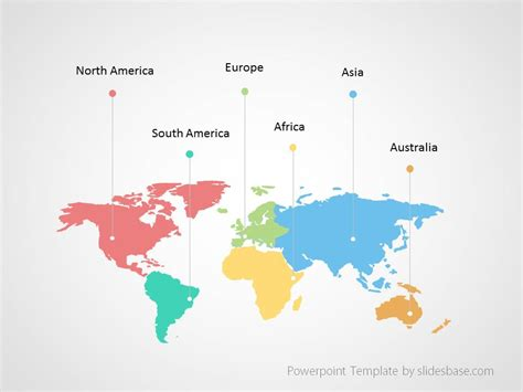 World Map Infographic Powerpoint Template Slidesbase World Map Template Powerpoint