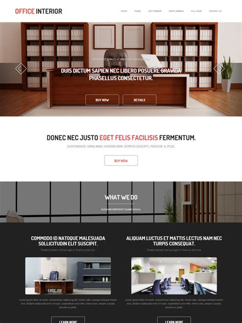 Office Interior Design Website Template Office Interior Interior Furniture Dreamtemplate Office Website Templates