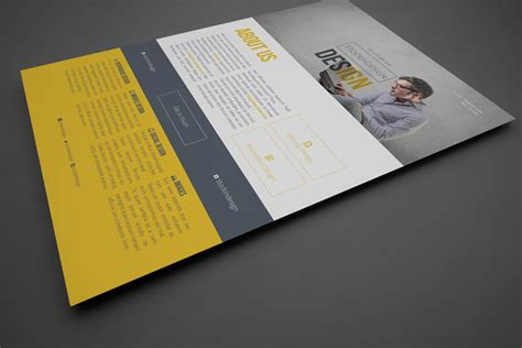 design flyer with indesign clean corporate flyer template stockindesign