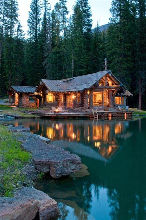 Log Cabin Big Sky Montana Lakeside Cabin Big Sky Montana Rustic Lodge Craftsman