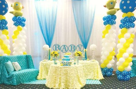Yellow Duck Baby Shower Decorations by Rubber Ducky Baby Shower Baby Shower Ideas Themes
