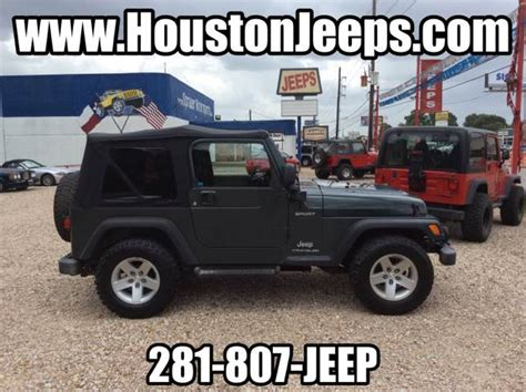 Jeep Wrangler For Sale Houston Tx 2004 Jeep Wrangler For Sale In Houston Tx Carsforsale