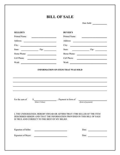 standard auto bill of sale expin franklinfire co