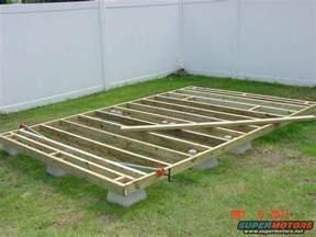 site framing for floating deck building