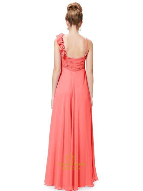 spaghetti chiffon dress orange spaghetti chiffon bridesmaid dresses with