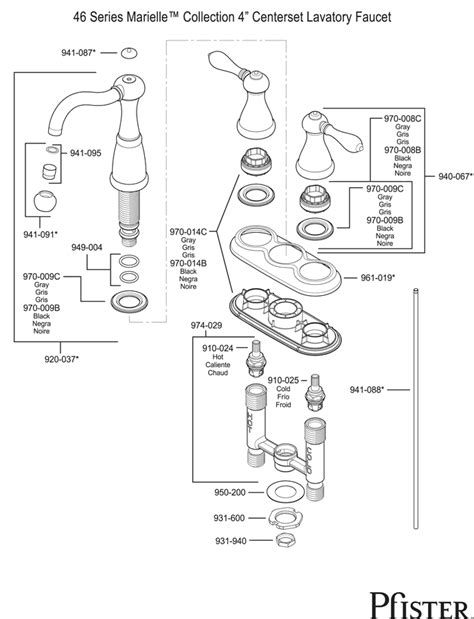 price pfister marielle parts diagram 28 49 series marielle pfister 950009 amherst