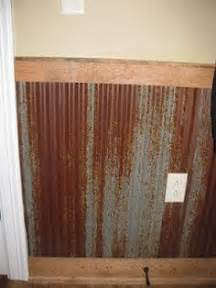 Tin Wainscoting Ideas 1000 Images About Corrugated Wainscoting More On