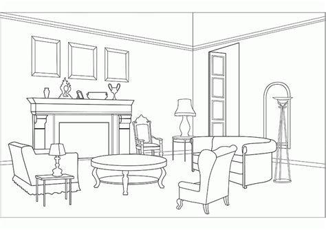 printable coloring pages rooms house 7 pics of coloring pages for girls bedroom sleep over