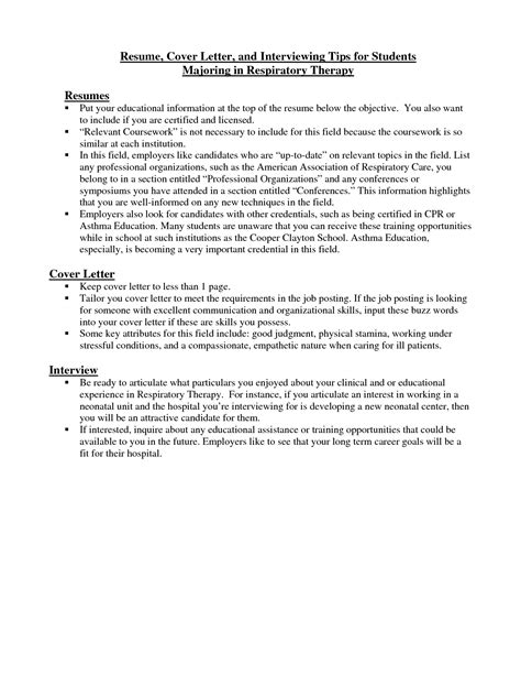 respiratory therapist cover letter resume cover letter