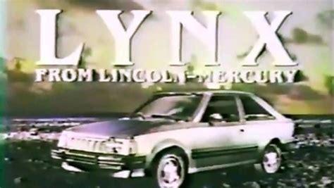 mercury lynx commercial