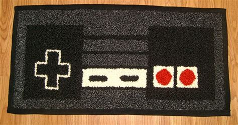 8 bit rug warm your 8 bit toes on an nes controller rug technabob