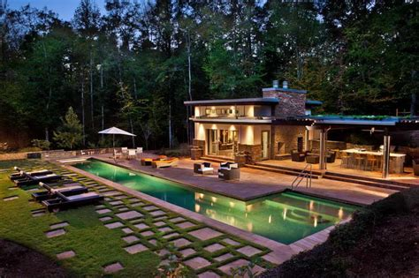 ga backyard ideas for small houses backyard pool house plans pool