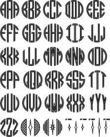 free monogram template order fonts
