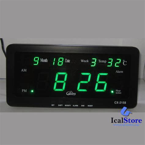 Jam Dinding Digital Caixing Cx 2159 jam dinding digital led tipe 2158 hijau ical store ical store