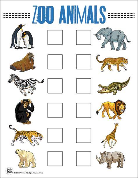 printable zoo animals printable zoo scavenger hunt related keywords printable
