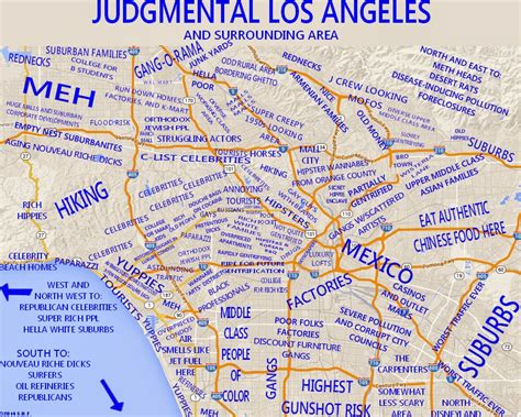 map of los angeles area the premature curmudgeon judgmental maps