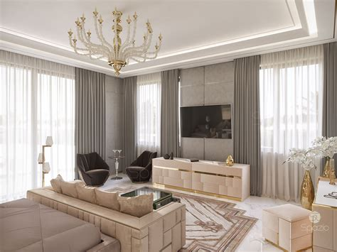 luxury master bedroom interior design  dubai  spazio