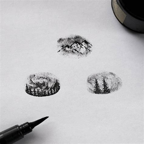 fingerprint tattoo best 25 fingerprint tattoos ideas on
