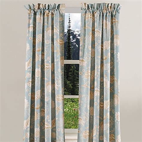 shell curtain natural shells window curtain panel bed bath beyond