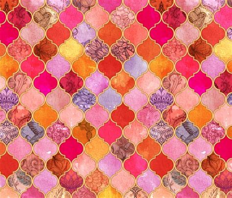 orange and pink cross pattern cuptakes wallpapers for hot pink and orange decorative moroccan tiles fabric
