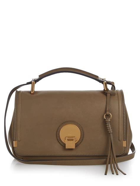 shoulder bag leather chlo 233 indy medium leather shoulder bag in brown khaki lyst