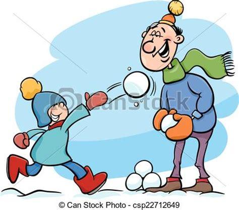 imagenes de invierno caricatura eps vector de pap 225 caricatura invierno hijo
