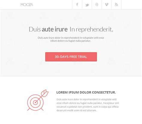30 Awesome Email Newsletter Psd Templates Wdexplorer Clean Email Template