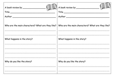 Book Review Template By Groov E Chik Teaching Resources Tes Book Review Template High School Pdf