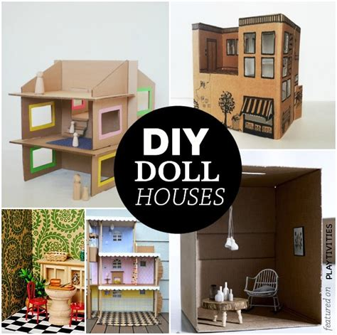 how to make a cardboard house for dolls pick your dream doll house playtivities
