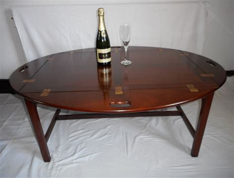 antique butlers tray table antiques atlas mahogany butlers tray topped coffee table