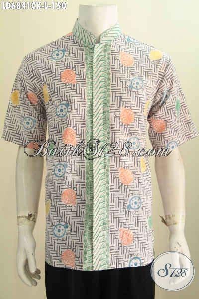 batik hem koko warna pastel baju batik modis halus motif unik proses cap keren buat jalan jalan