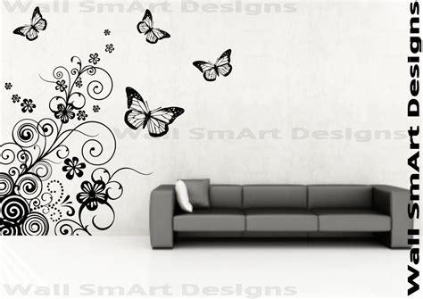 pattern wall decals uk butterfly pattern spiral wall sticker wall art mural