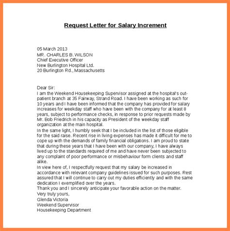 Increment Request Letter Format Doc 6 Salary Increase Letter Salary Slip