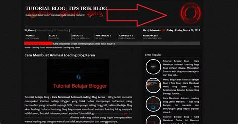 cara membuat gambar header html cara membuat animasi loading di header blog tutorial
