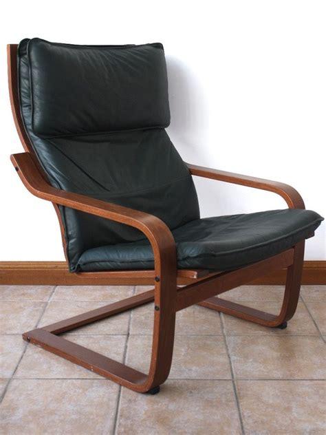 ikea black leather chair ikea poang green leather chair in haddington east
