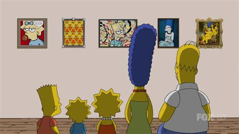 simpson couch gags crimes of the art