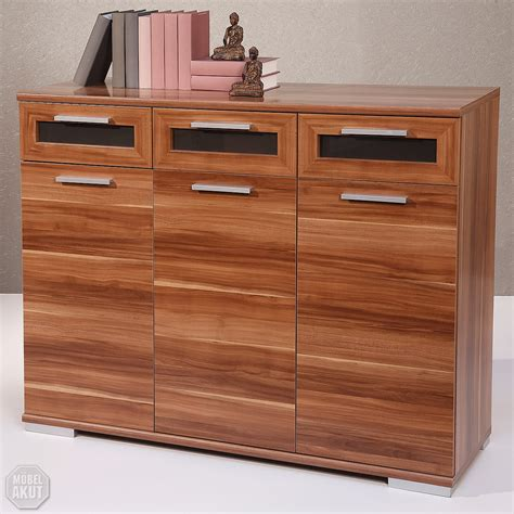 Kommode Walnuss Schwarz by Sideboard Solido 3 Highboard Kommode Walnuss Schwarz Ebay