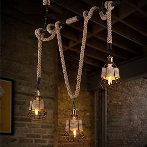 American Made Lighting Fixtures Aliexpress Buy American Edison Water Pipe Rope Pendant Light Fixtures For Dining Room