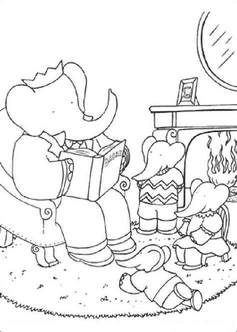 el viaje de babar desenhos para colorir de babar e as aventuras de badou