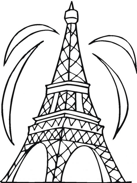 eiffel tower printable coloring page free printable eiffel tower coloring pages for kids