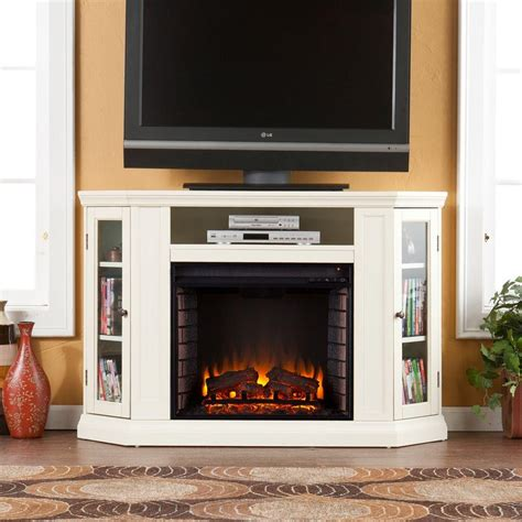 gas fireplace tv console southern enterprises 48 in convertible media electric fireplace tv stand in ivory hd9335
