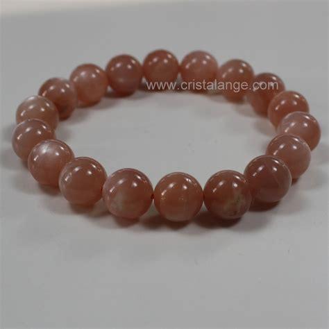 Bracelet pierre de lune orange   bijoux pierres lithothérapie   pouvoir des pierres