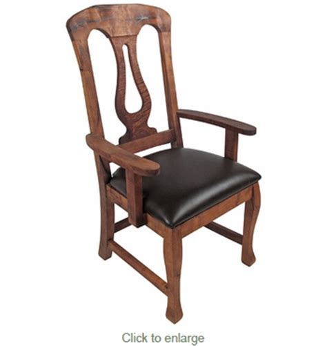 Mesquite Harp Back Dining Arm Chair Mesquite Dining Chairs