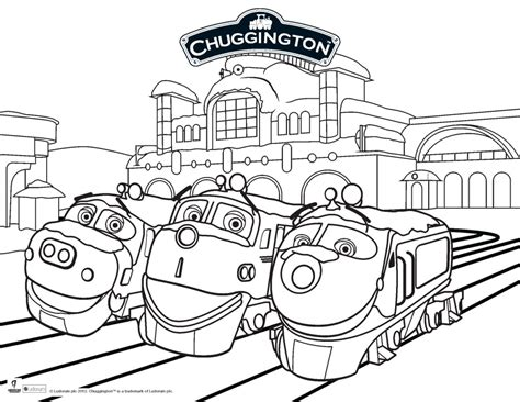 chuggington coloring train pages printable page of chuggington by luke free printables