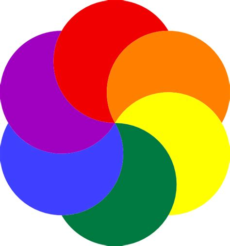 7 colors of rainbow rainbow of colors clip at clker vector clip