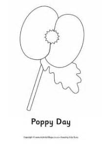 poppy template for children remembrance day printables