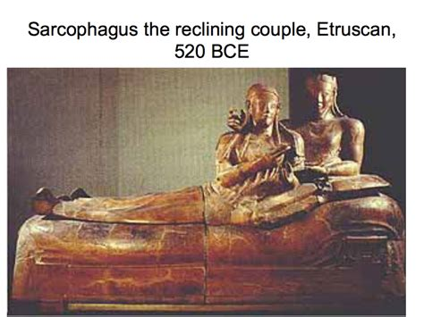 sarcophagus of reclining couple sarcophagus the reclining couple etruscan 520 bce