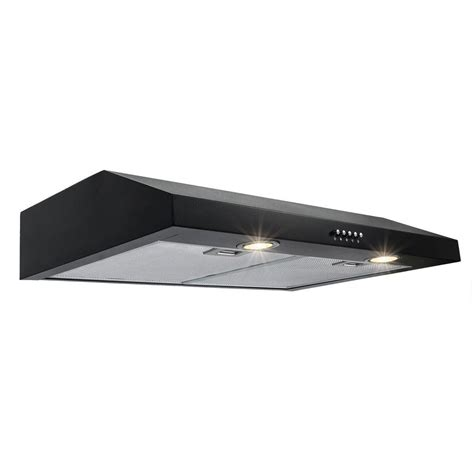 black stainless under cabinet range hood akdy 30 in kitchen under cabinet range hood in black hd
