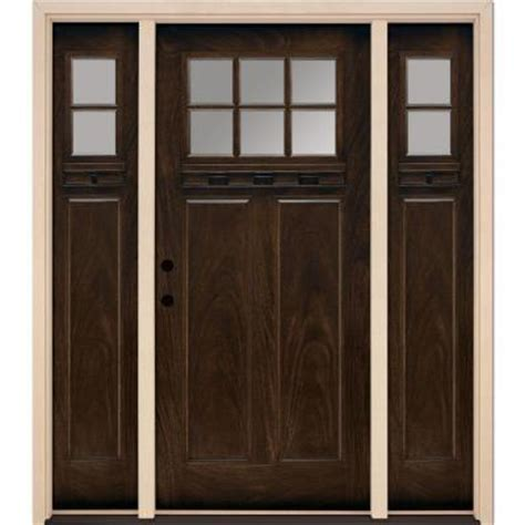 feather river doors 6 lite clear craftsman stained