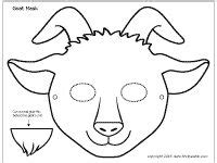 goat mask coloring page the 25 best goat mask ideas on pinterest billy the goat